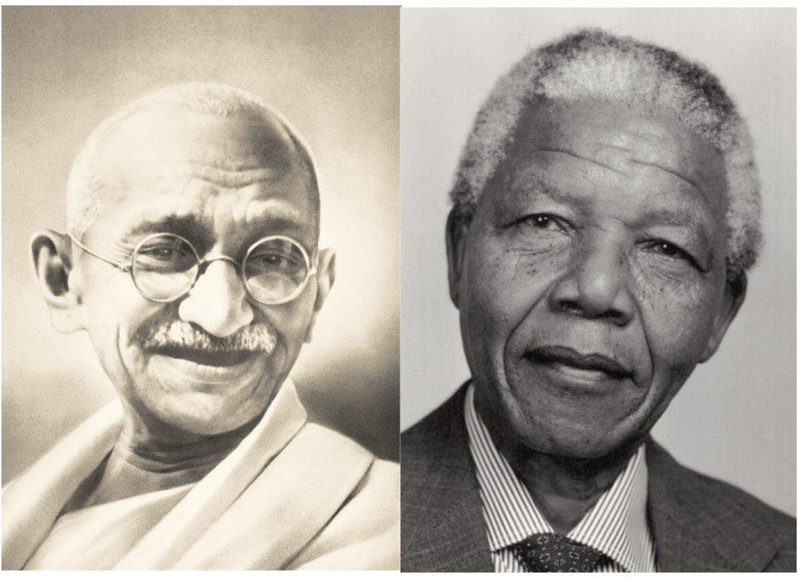Gandhi et Mandela