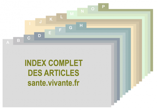 Liste des articles parus sur le site santé-vivante.fr